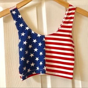 American Flag cropped tank from American Apparel
